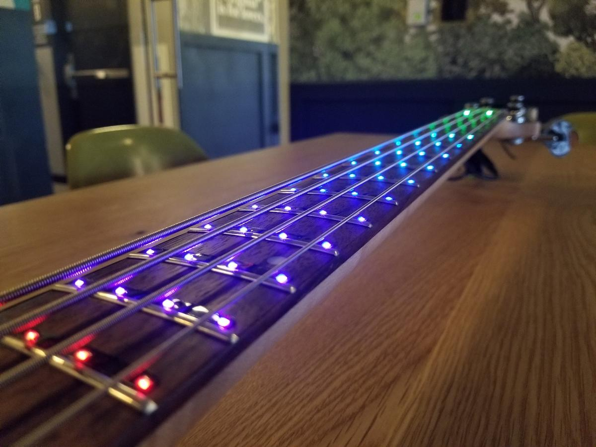 Fret Zealot has launched an LED learning system for bass guitar on Kickstarter
