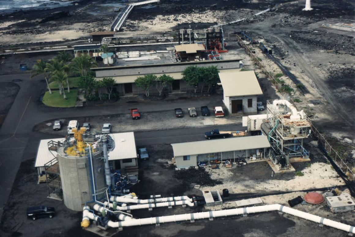 A land based OTEC facility at Keahole Point on the Kona coast of Hawaii