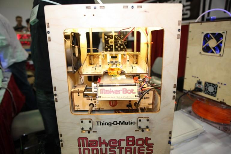 The MakerBot Thing-O-Matic lets you print your own custom gifts