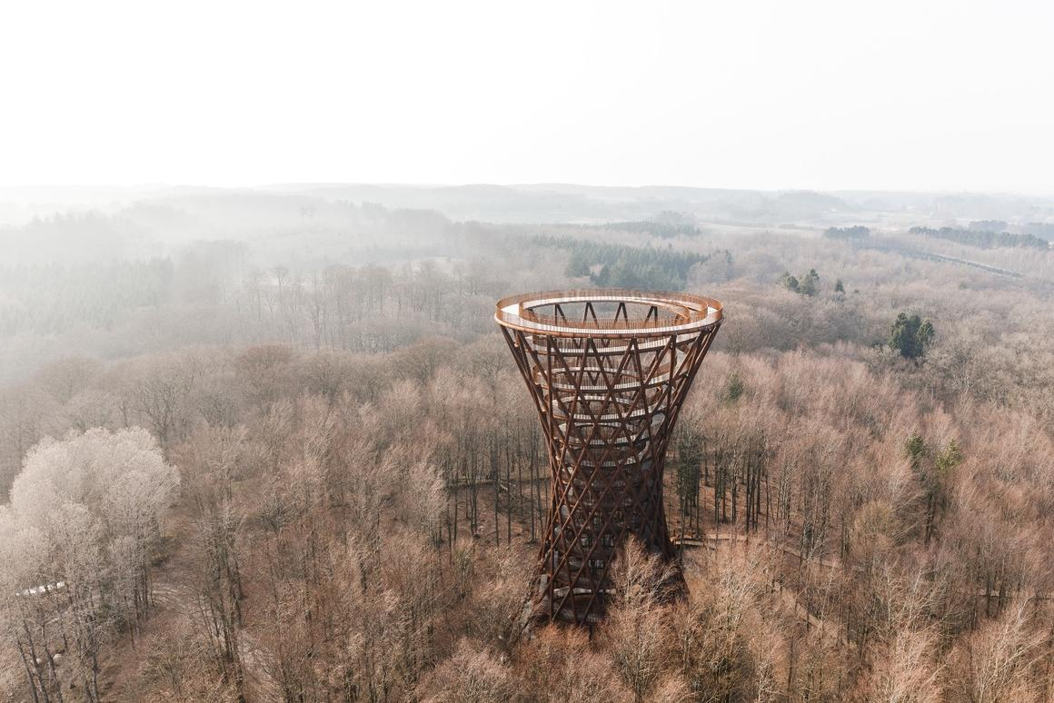 Camp Adventure Tower rises to a height of 45 m (148 ft)