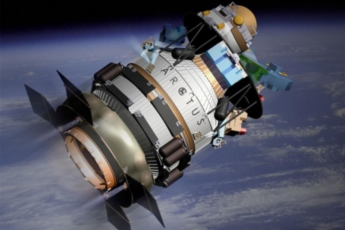 Artist rendition of ARCTUS in orbit