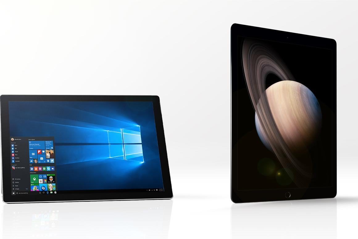 Gizmag compares the features and specs of the Microsoft Surface Pro 4 (left) and Apple iPad Pro
