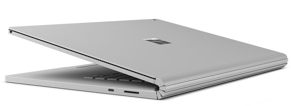 The hinge and connector has been redesigned for the Surface Book 2