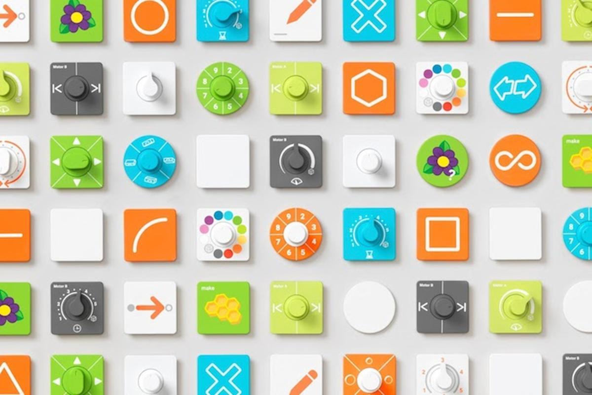 "Project Bloks is a system designed to teach kids to code using programmable ""pucks"" that snap together like Lego bricks"