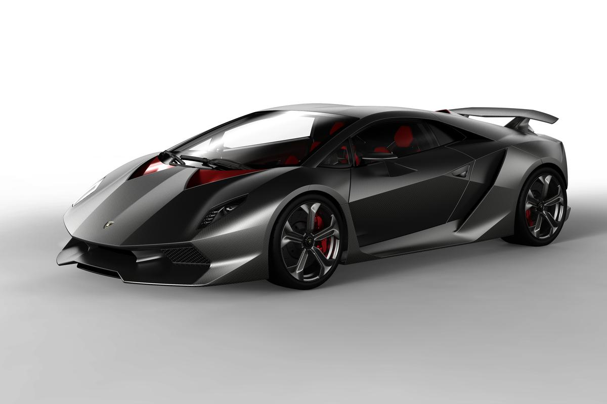 The carbon-fiber-heavy - or rather, light - Lamborghini Sesto Elemento