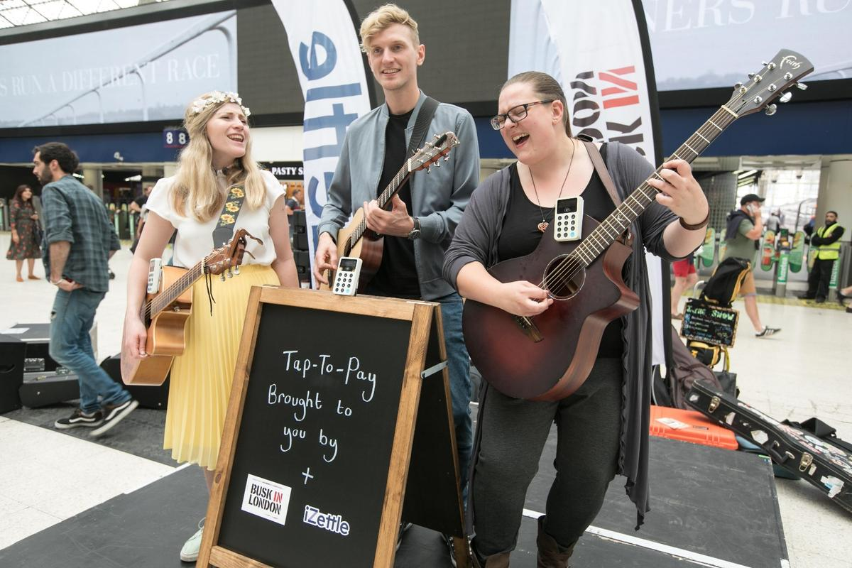 London buskers can now accept contactless payments thanks to a partnership between iZettle and Busk in London