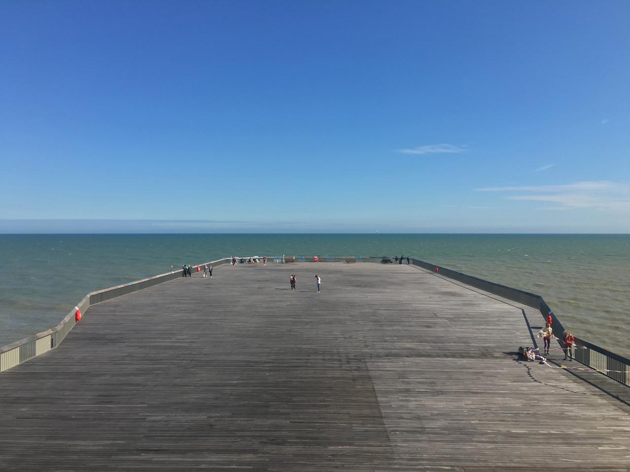 dRMM architects took a contemporary, less-is-more approach to the Hastings Pier project