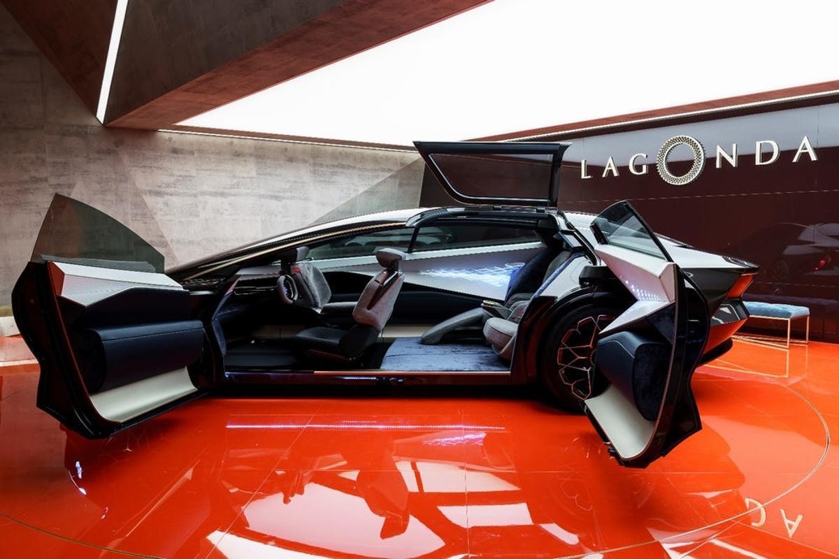 Aston Martin shows the Lagonda Vision Concept at the 2018 Geneva Motor Show