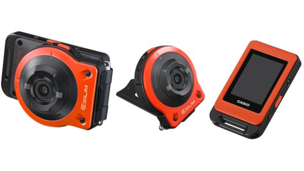 The Casio Exilim EX-FR10 can be split into separate controller and lens units for remote control shots