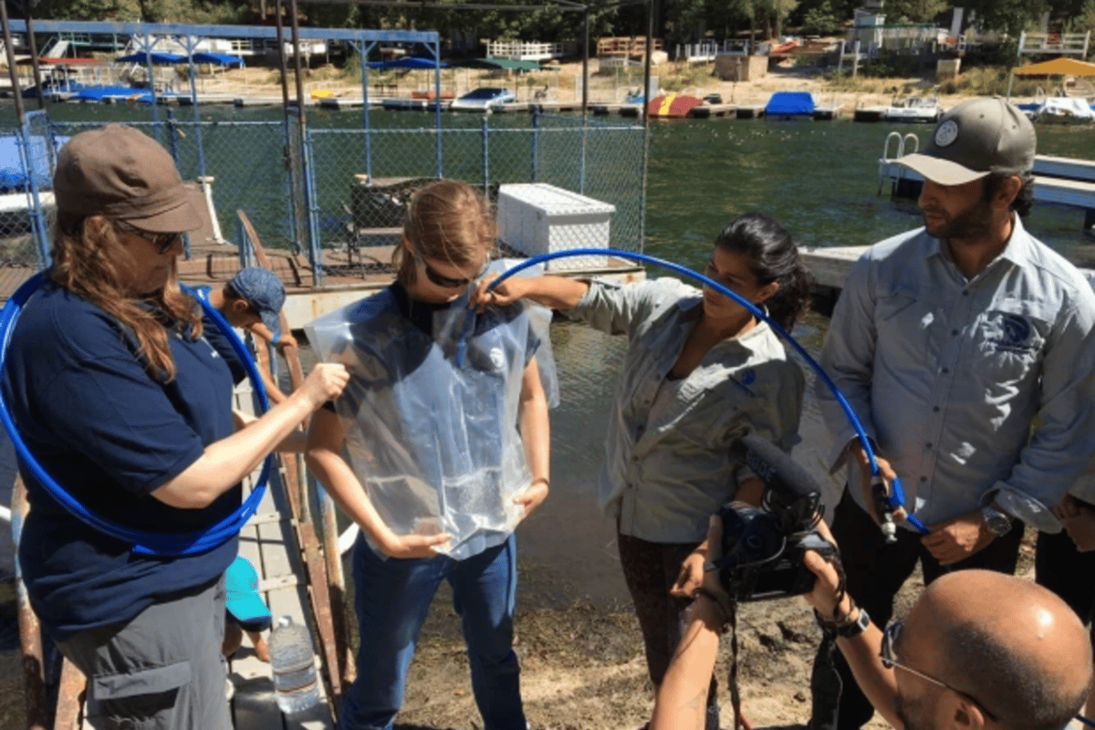 The team has developed several prototypes of its WaterVest