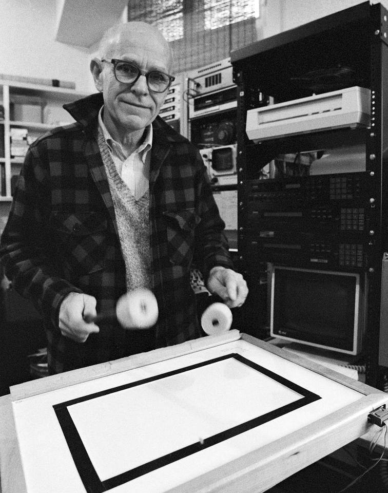 Max Mathews devoted most of his life to learning how computers could aid musicians in performanceCredit: Ed Souza, via The Stanford University News Service