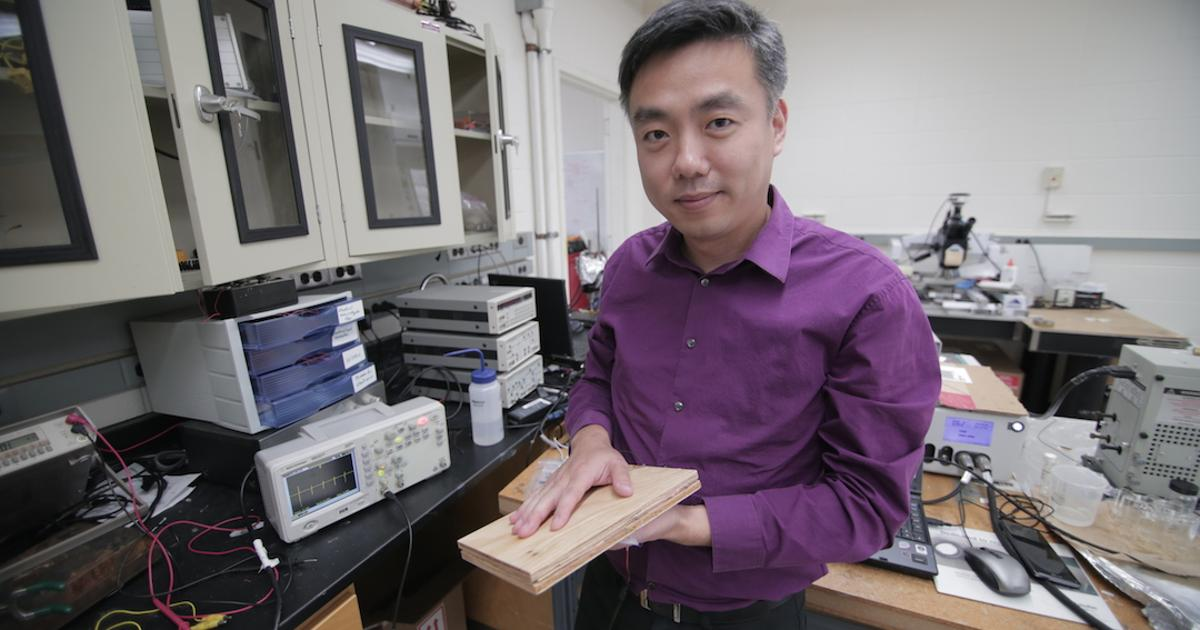 Simple, inexpensive method for creating energy-harvesting wooden floors