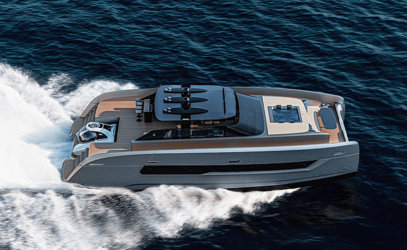 Two 800-hp Volvo Penta engines push the Aquanaut to speeds up to 40 knots