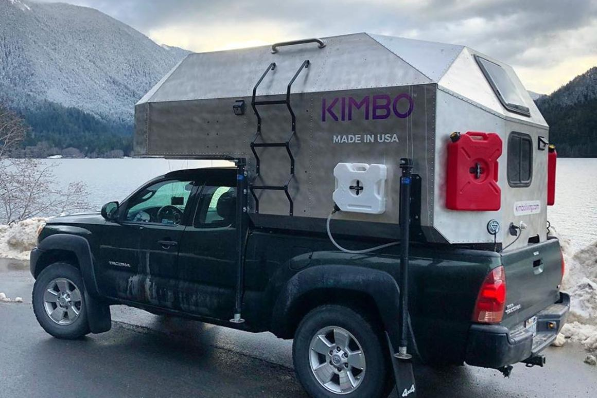 Kimbo adventure camper turns your pickup into a fire-warmed