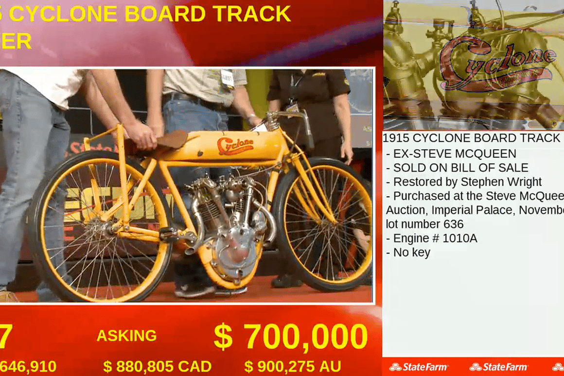 World Records galore at E J  Cole Collection Motorcycle Auction