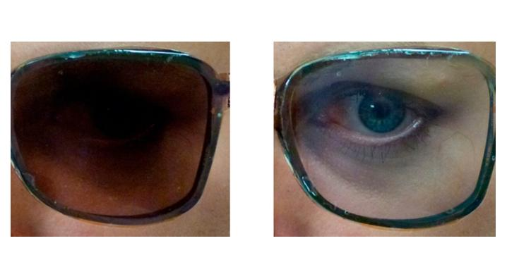 The prototype glasses in their tinted and clear states (Photo: American Chemical Society)