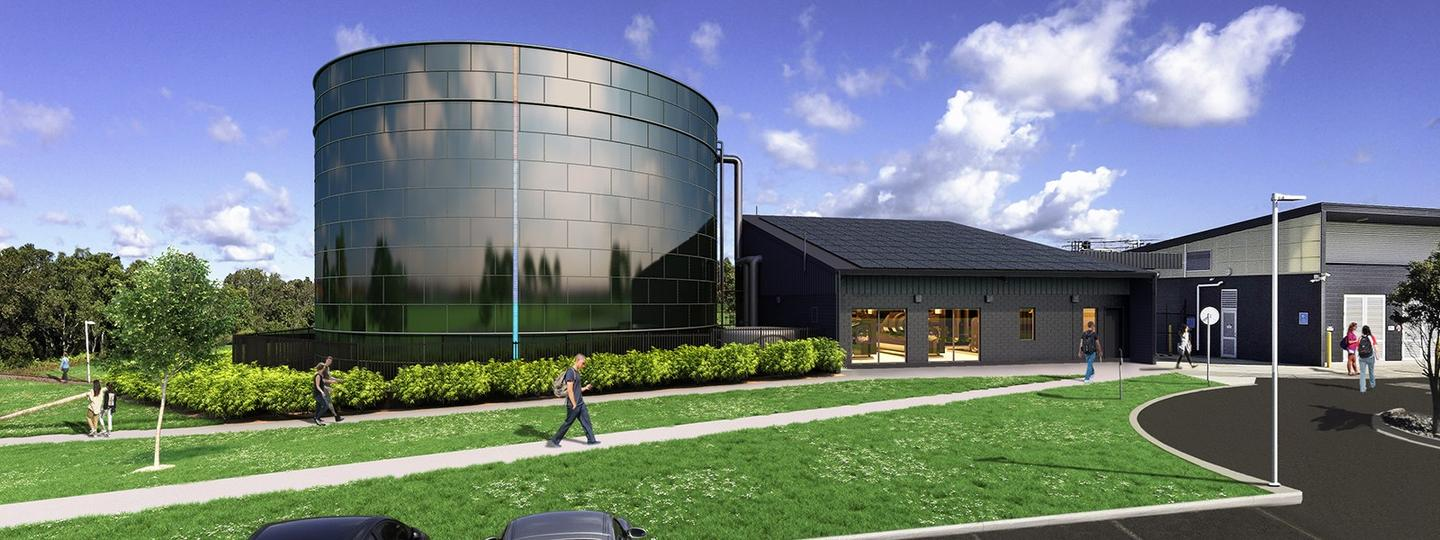 Render of the new water battery at USC