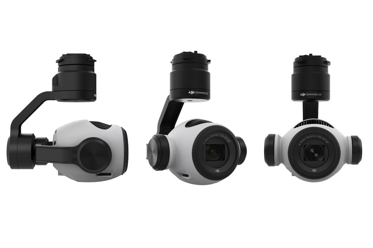The Zenmuse Z3 camera from DJI will let drone photographers zoom in on subjects