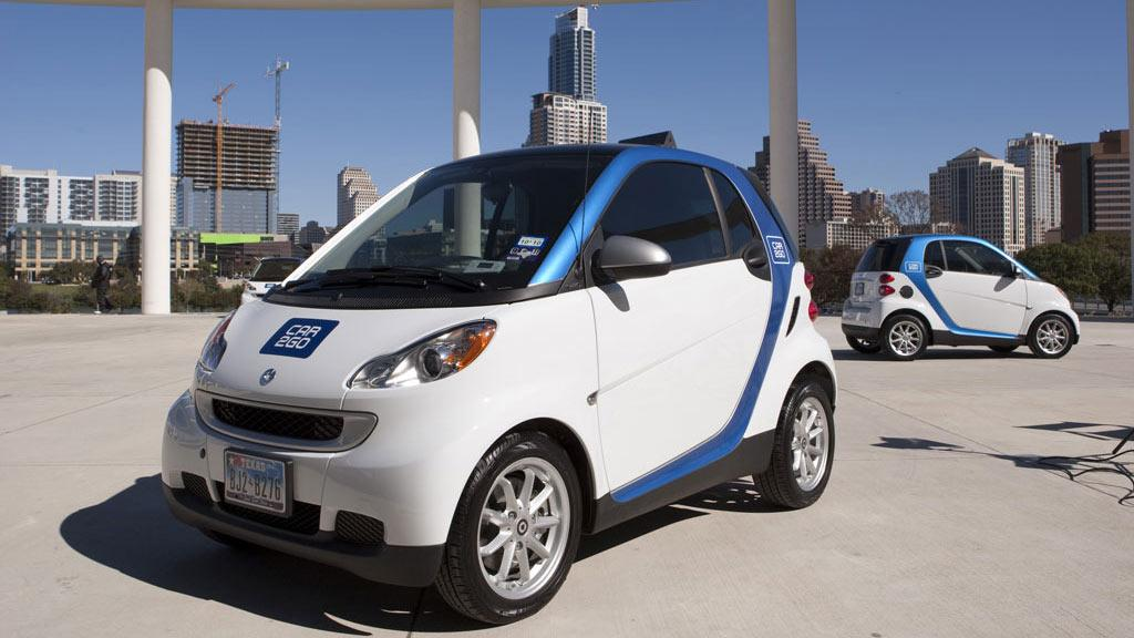 200 smart fortwo cars are on the streets of Austin as part of the car2go car sharing program