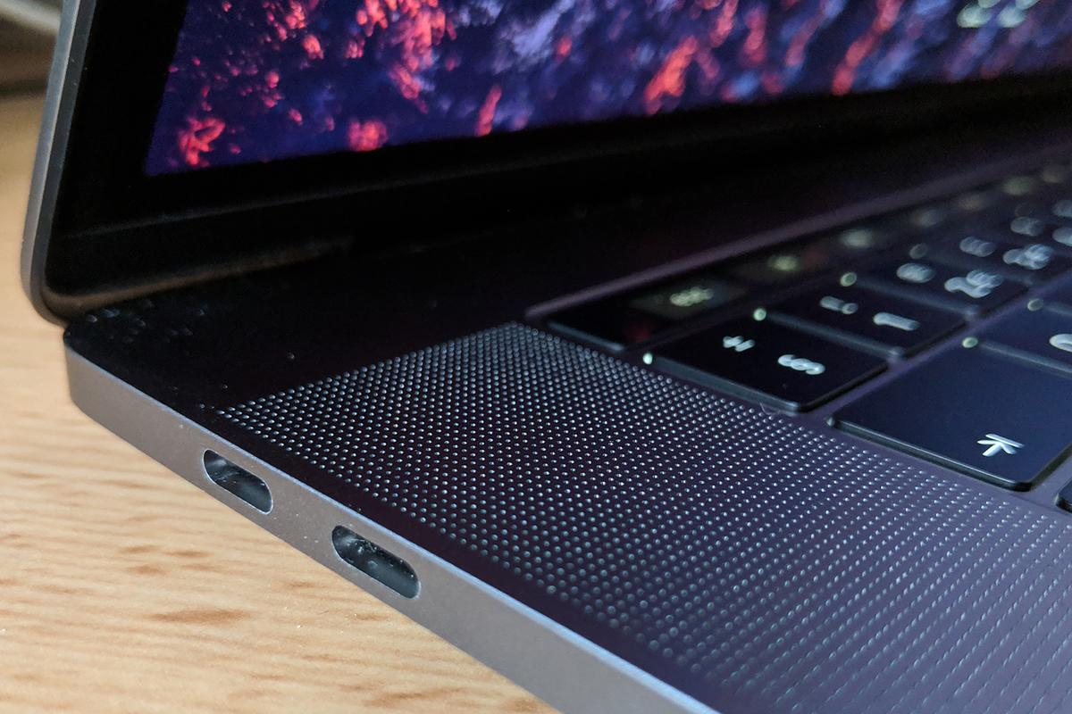 Current hardware, like the MacBook Pro pictured, goes up to USB 3.1
