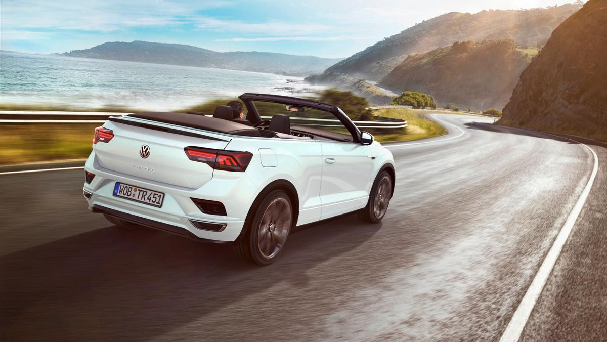 This T-Roc Cabriolet driver has wisely taken it far away from where anyone else will have to see it