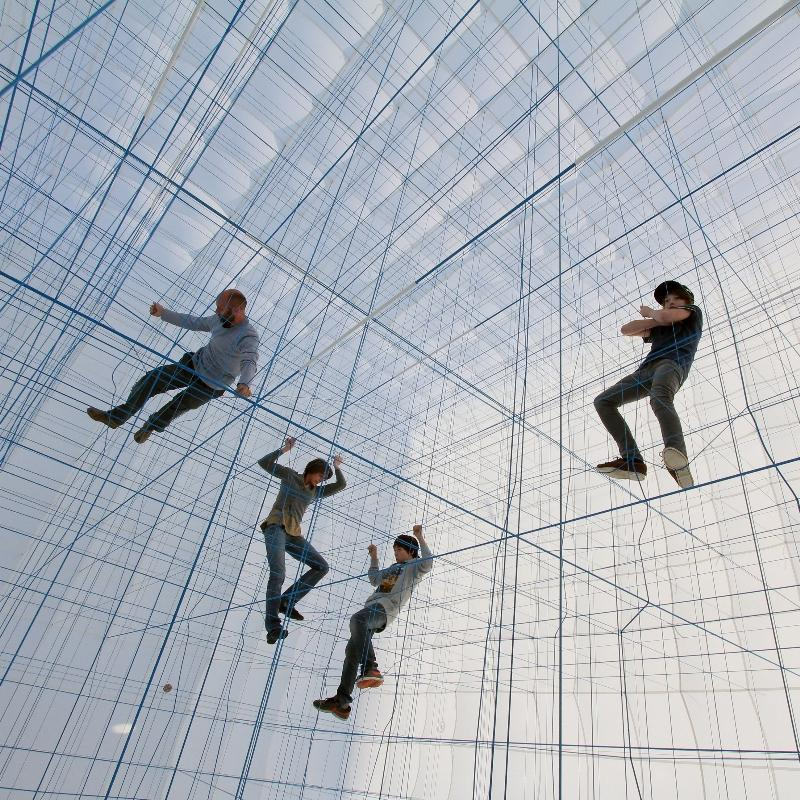 String is an artwork by Numen
