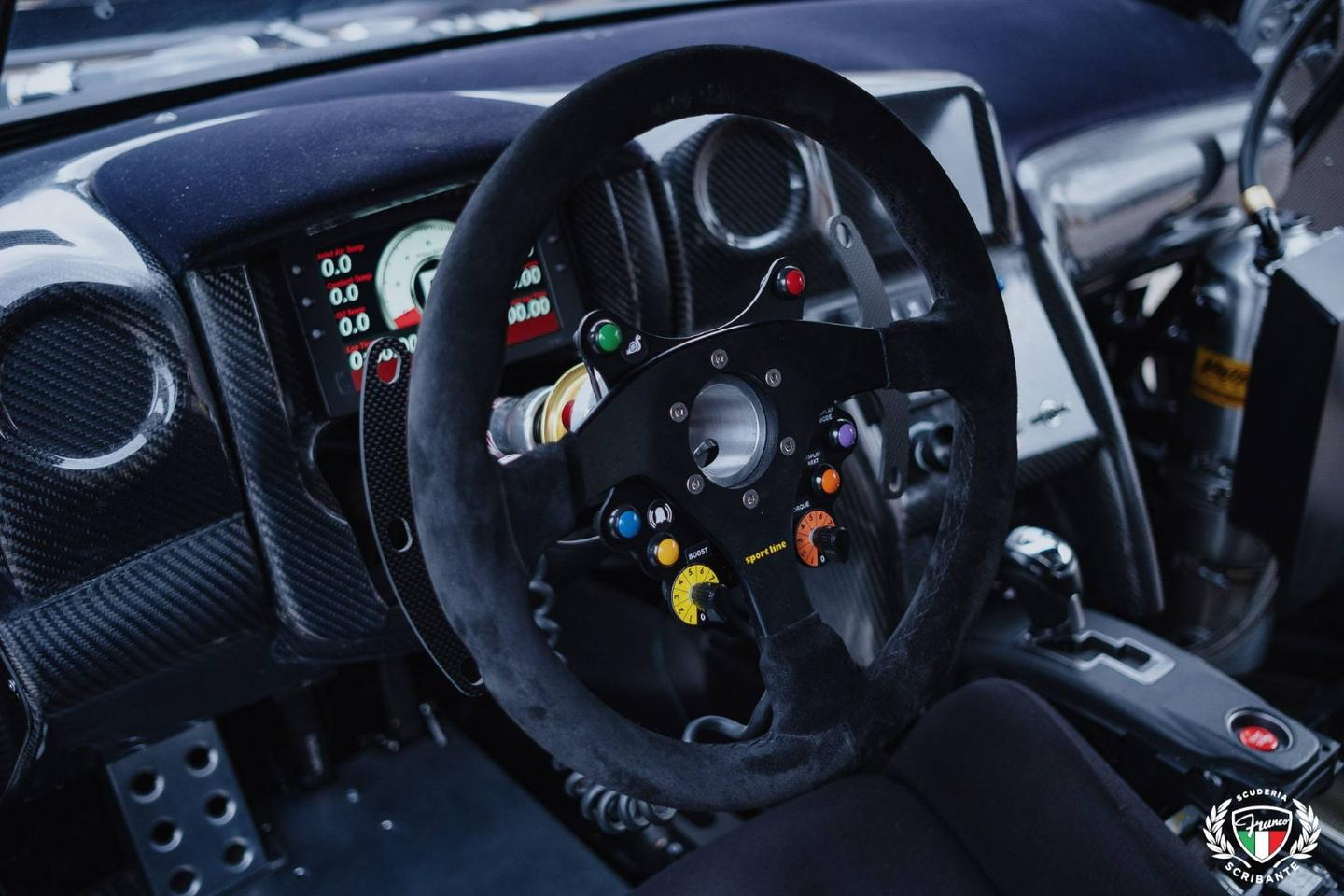 The steering wheel and dash
