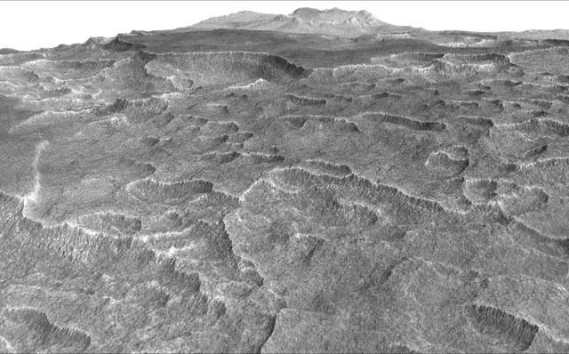 "The unique features of the Utopia Planitia, which look ""like someone took an ice-cream scoop to the ground,"" according to lead study author Cassie Stuurman, led researchers to look for hidden ice deposits"