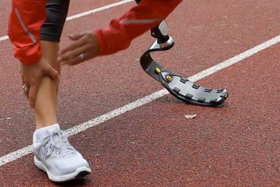 The Nike Sole is an attachment designed for use with Ossur's Flex-Run carbon fiber running blades