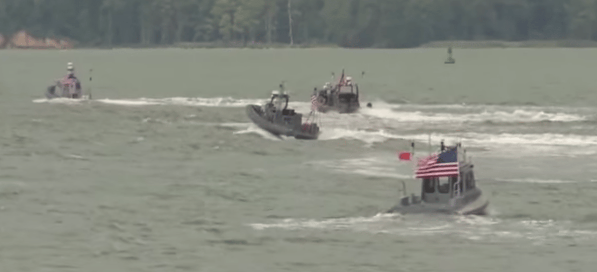 The ONR's robotic boats are designed to autonomously swarm an attacking vessel (Photo: ONR)