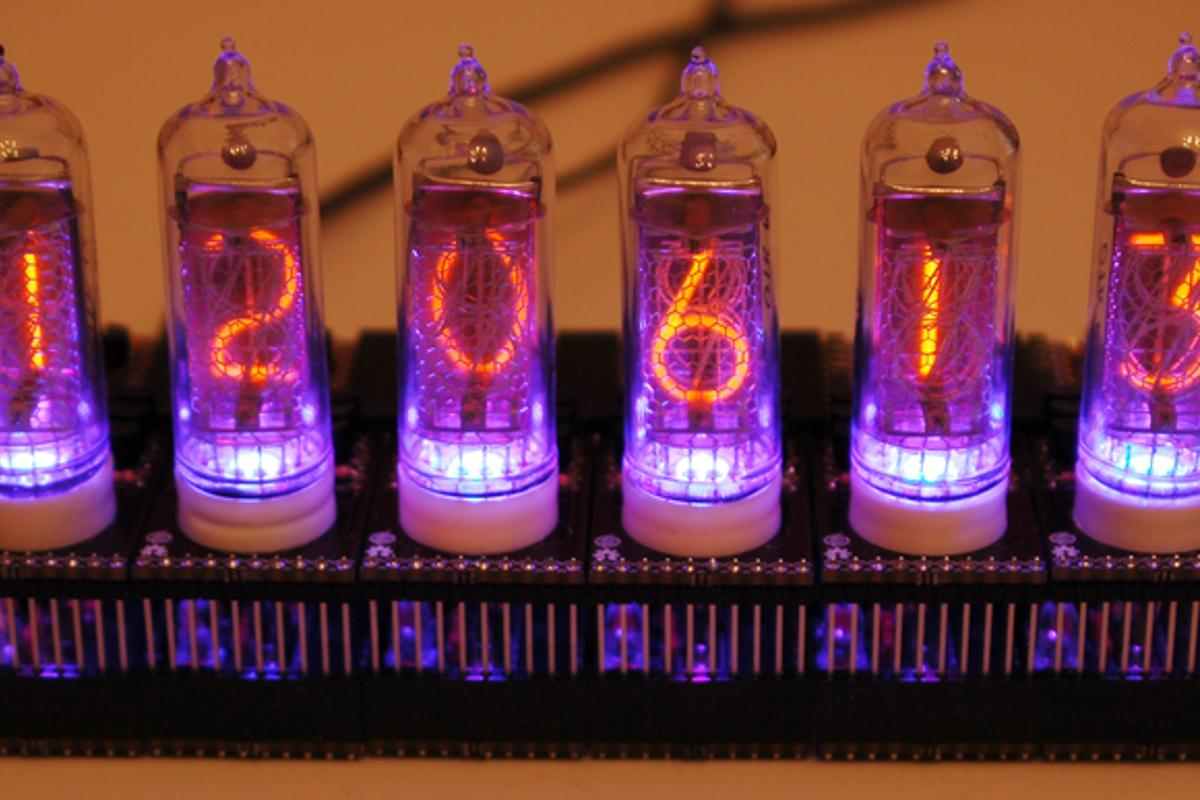 The Smart Nixie Tube display can be programmed to serve a variety of purposes, from clock to stock ticker