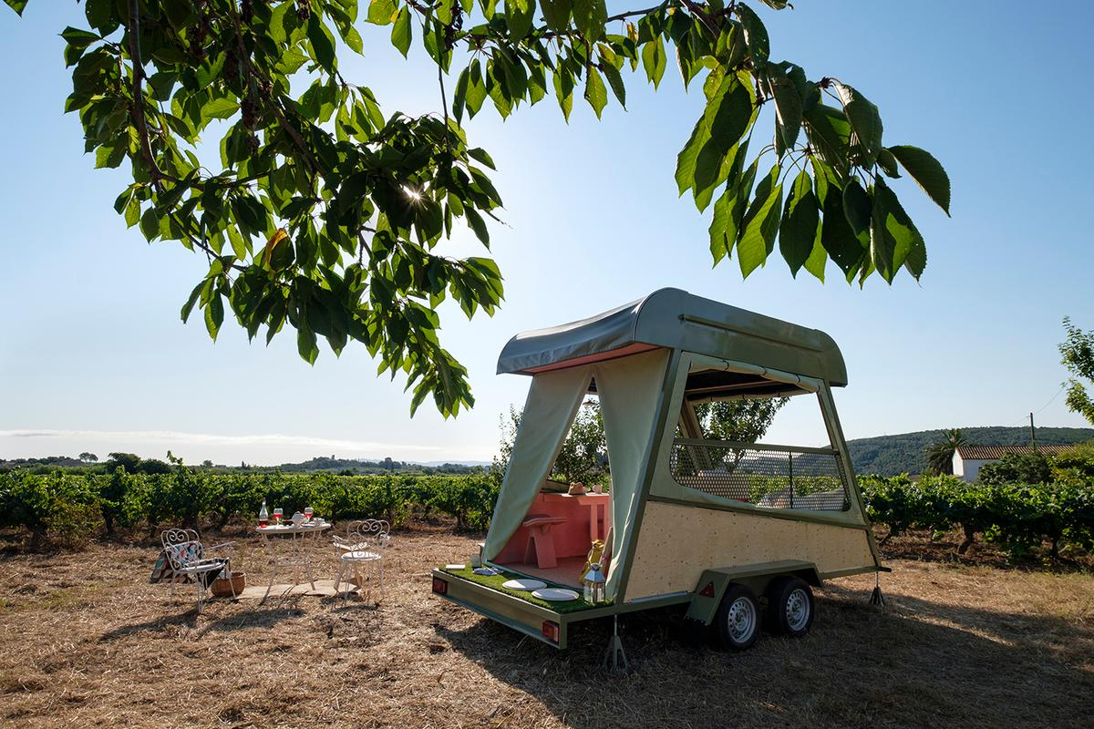 Pinea Mobile is best thought of as a bedroom on wheels and it doesn't contain a bathroom or kitchen