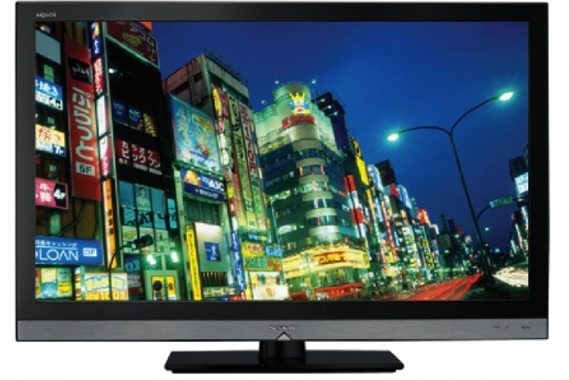 """The Sharp Aquos LC32LE600E 32"""" full screen LED backlit TV - LED backlit LCD TVs have brighter colors, deeper blacks and higher contrast ratios than CCFL LCDs"""