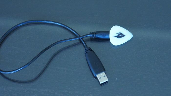 The Firefly's battery is charged via a micro-USB port using an included cable