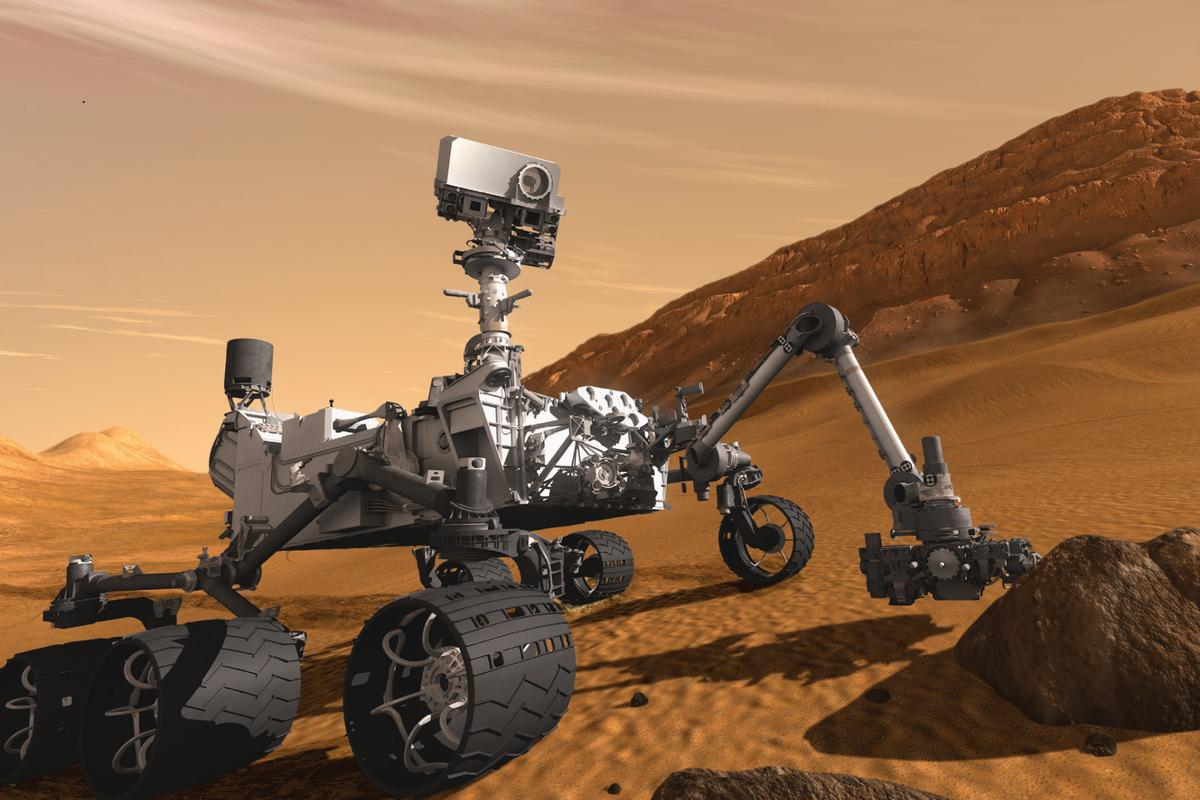Artist's impression of the Curiosity rover (Image: NASA)