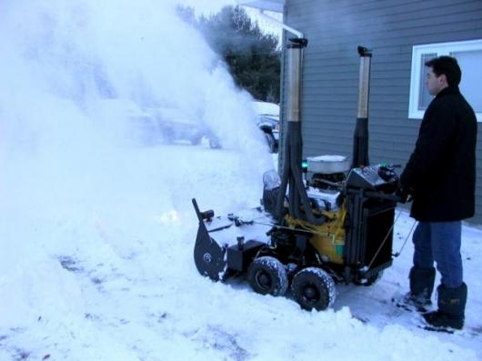Image result for CRAZY snow blower