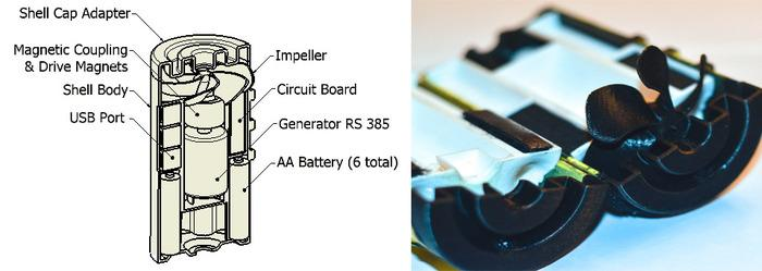 A diagram of the HydroBee's battery pack
