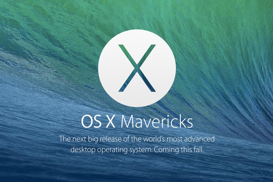 Apple announces Mac OS X Mavericks