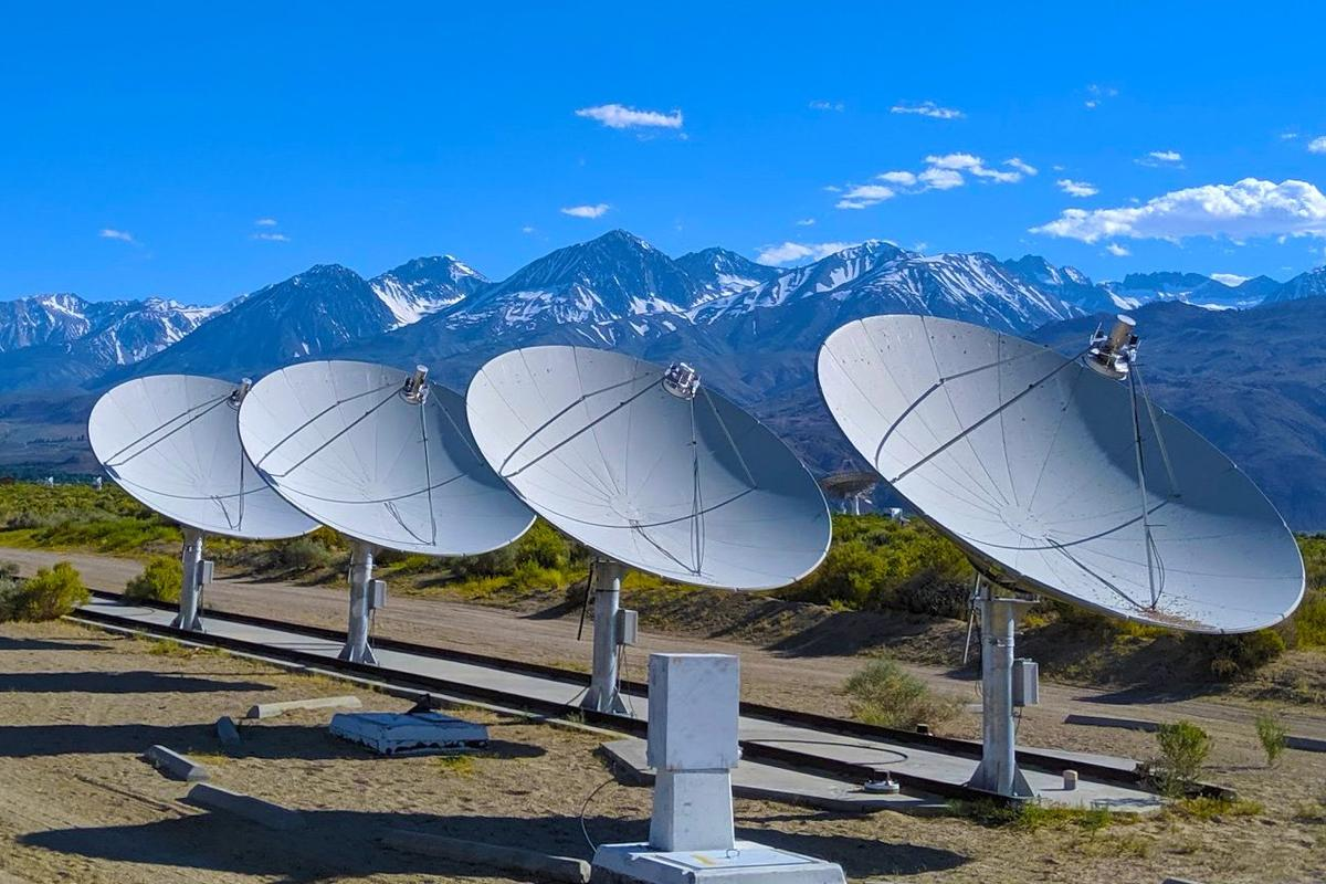 The Deep Synoptic Array-10 (DSA-10) dishes, located at Caltech's Owens Valley Radio Observatory