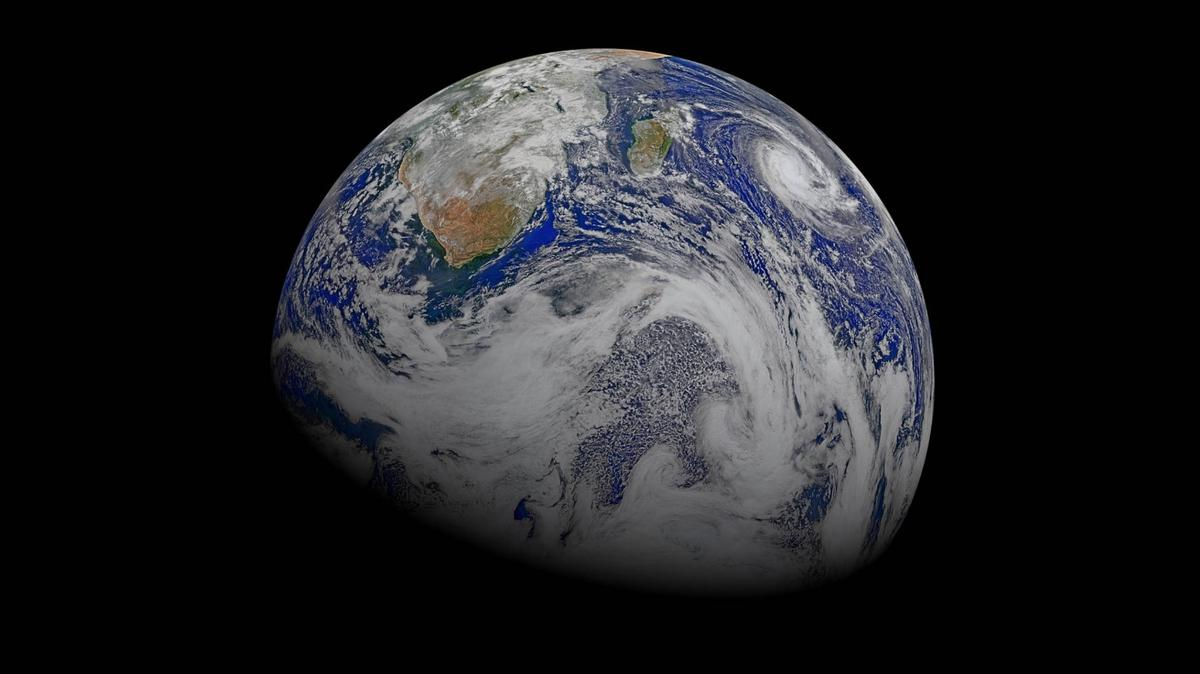 Earth, as seen by the NASA/NOAA SuomiNational Polar Orbiting Partnership spacecraft in April 2015
