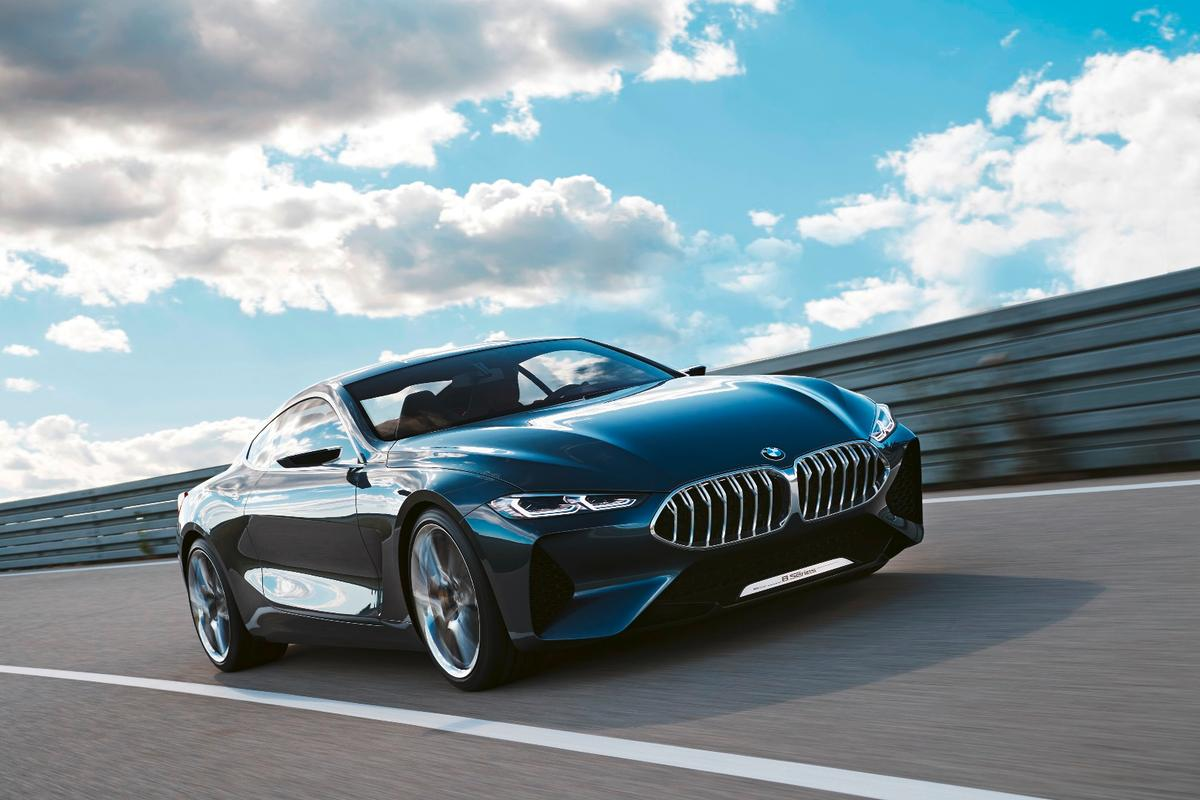 The Concept 8 Series' lines and curves sweep forward toward the aggressive face