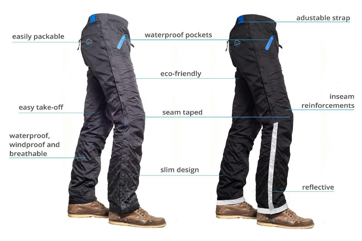 The zips running down the side of the Legs Jacket pants make them easy to take off and put on