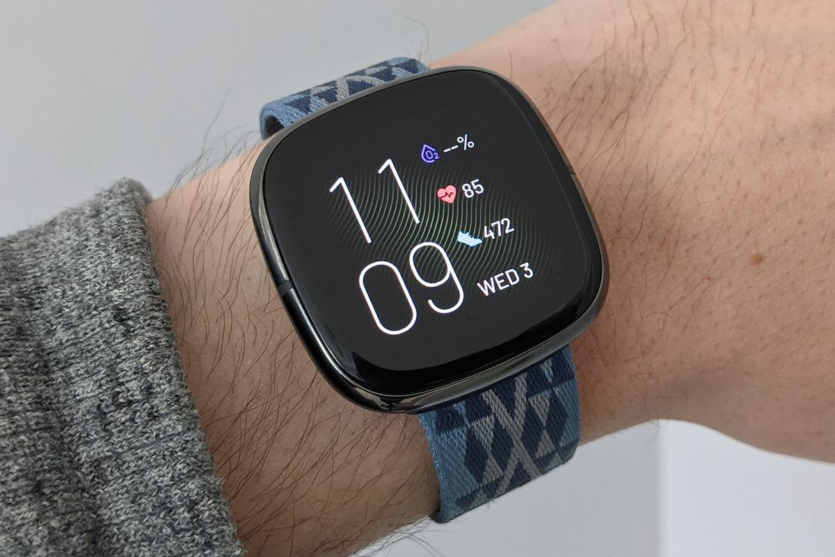 The Fitbit Sense displays key fitness stats right on your wrist