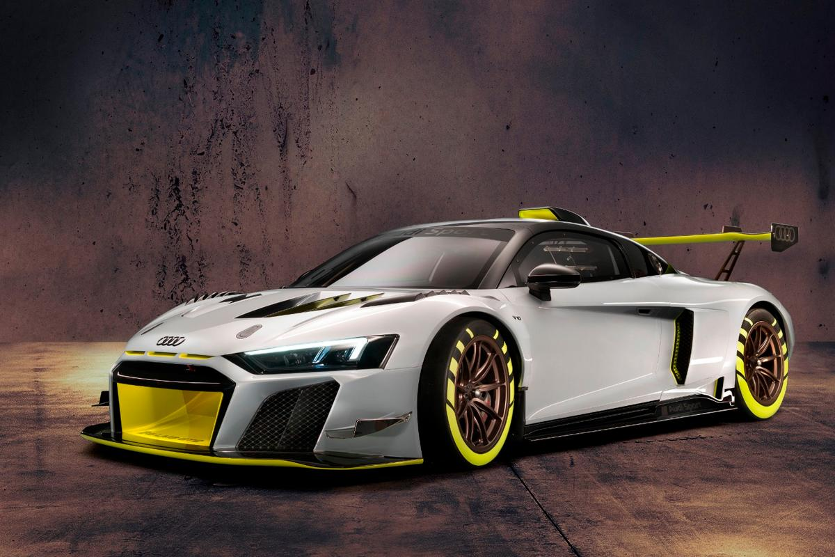 Based on the Audi R8 Spyder, the LMS GT2 is a race-ready monster
