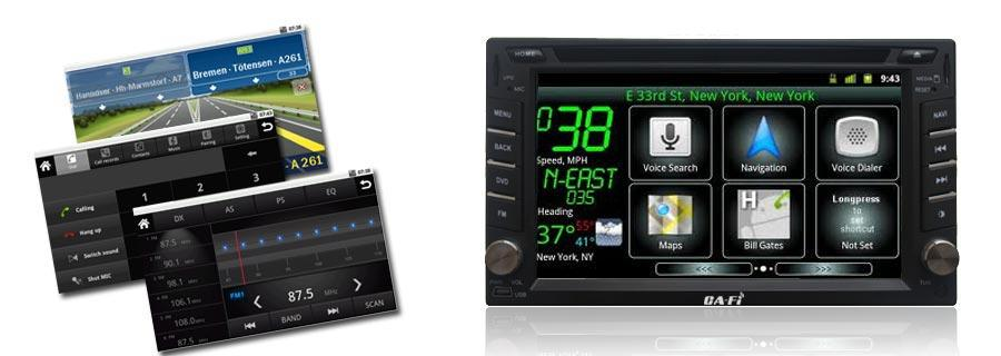 Ca-Fi infotainment system features a custom graphical user interface (GUI)