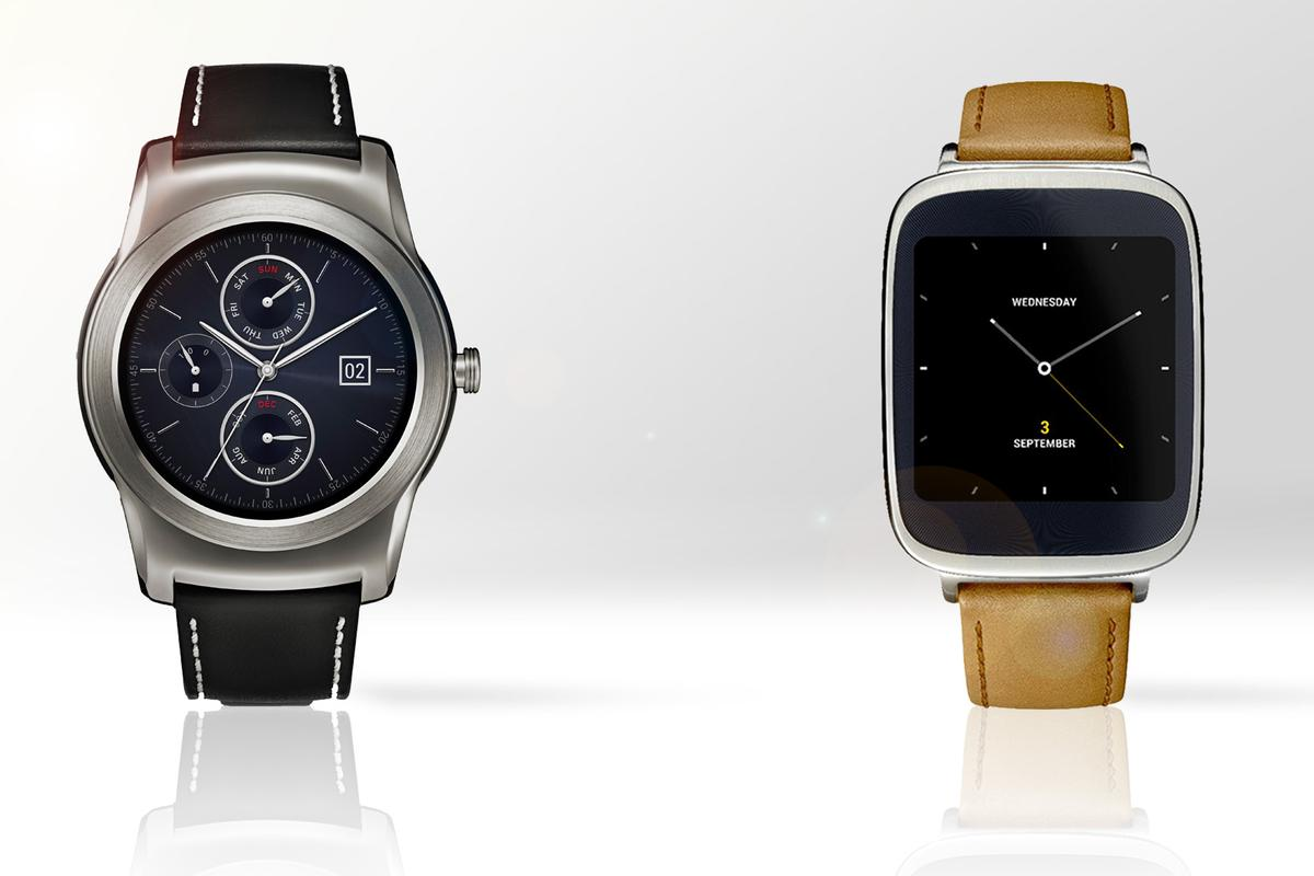 Gizmag compares the features and specs of the LG Watch Urbane (left) and Asus ZenWatch smartwatches
