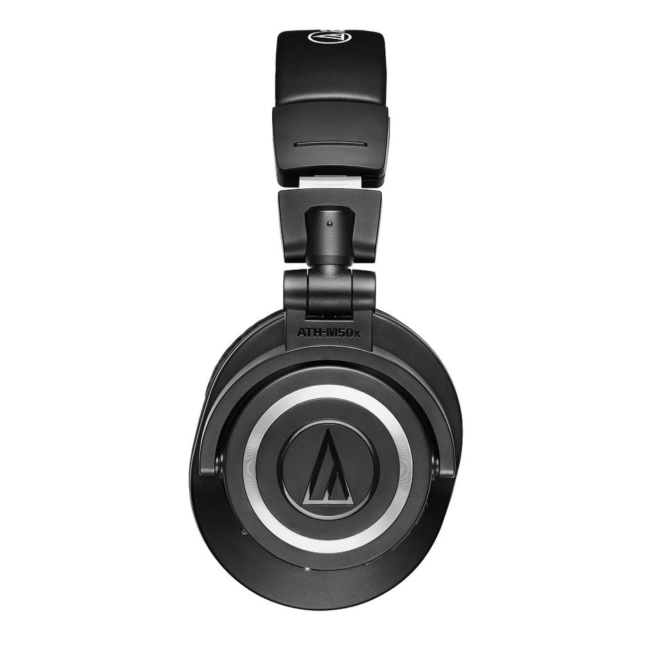 The ATH-M50xBT wireless headphones feature touch-enabled controls on the left earcup