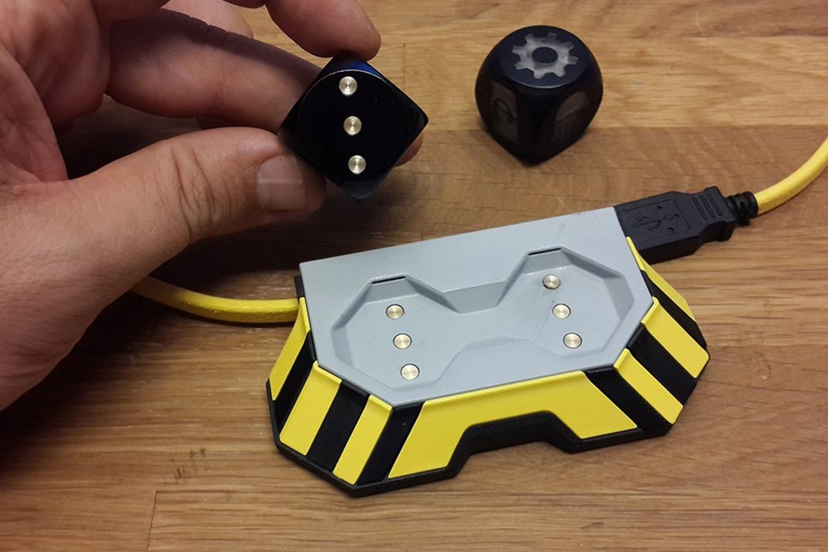 Boogie Dice take 40 minutes to fully-charge on the included charging station