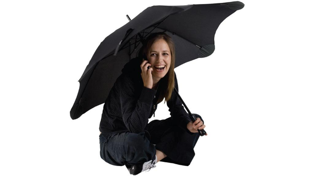 The Blunt Umbrella boasts improved strength, durability, stability and is safer than traditional umbrellas