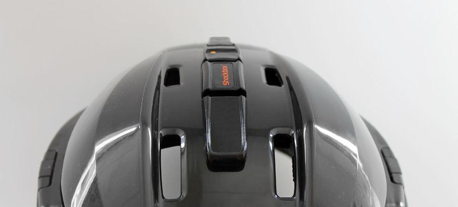 The Shockbox Sensor attaches to an athlete's helmet, and alerts their coach via Bluetooth if they receive a severe head impact
